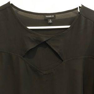 Torrid black short sleeve shirt size 0X